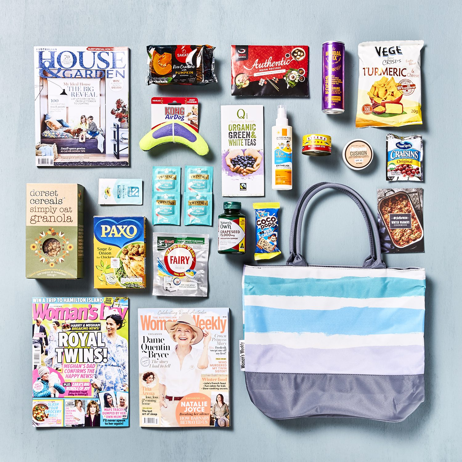 The classic Australian Women's Weekly Showbag is a must-have for Aussie women. It's the perfect choice for FMCG and Home and Lifestyle brands looking to target primary grocer buyers and early adopters of new supermarket products. Get into their hands and their hearts by participating in the Australian Women's Weekly Showbag with Chicane Marketing.