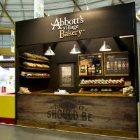Stand Design and Build for George Weston Food's Abbott's Village Bakery Stand at the Sydney Royal Easter Show.
