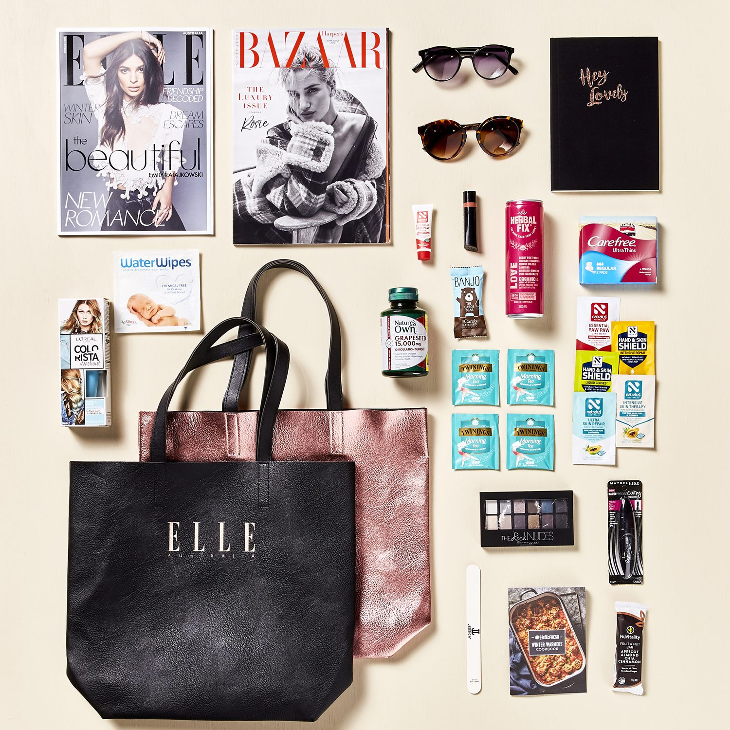 ELLE Australia Sampling Program and Branded Showbag