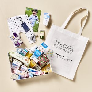 Hurstville Hospital Gift Bag. Partner with us to create a Gift Bag for your brand or event!