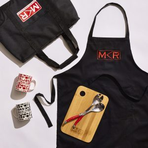 My Kitchen Rules Branded Merchandise by Chicane Marketing. We've partnered with Channel 7 over the years to create unique and sought after branded products for the true MKR fans.